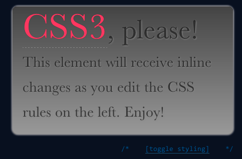 CSS3 Please Screenshot