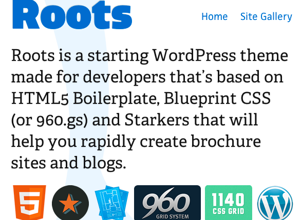 Themes alittlecode roots wordpress theme html5 boilerplate and blueprint css or 960 malvernweather Gallery