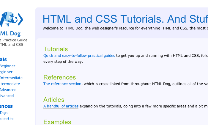HTML and CSS for Beginners: Great FreeResources