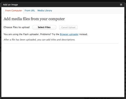 WordPress Media Uploader Screenshot